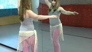 getlinkyoutube.com-Belly Dancing with Talia - A Back Hip Twist الرقص الشرقي تويست هوب العودة،