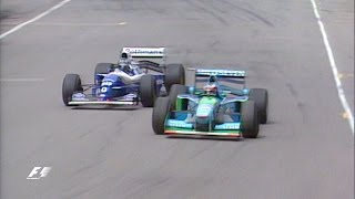 getlinkyoutube.com-Schumacher And Hill Collide In Title Showdown | 1994 Australian Grand Prix