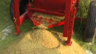 getlinkyoutube.com-Engine driven Paddy / Multicrop Thresher (Rice Thresher)