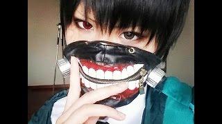 getlinkyoutube.com-Kaneki Tokyo Ghoul Cosplay Makeup
