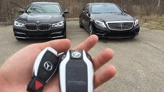 getlinkyoutube.com-Luxury Sedan Fight! | '16 BMW 750i vs '16 Mercedes S550