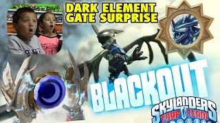 DARK ELEMENT GATE SURPRISE w/ BLACKOUT Soul Gem! Skylanders Trap Team Mystery Unlocked!!