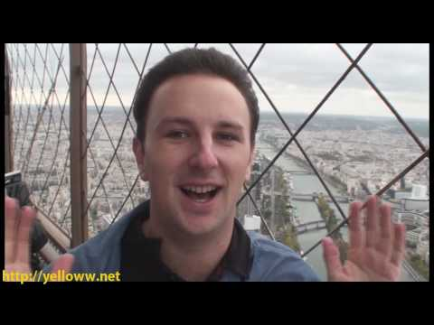 Climbing the Eiffel Tower in Paris France