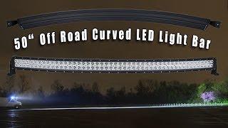 """getlinkyoutube.com-50"""" Off Road Curved LED Light Bar"""