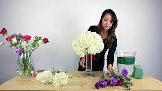 How to make a hydrangea centerpiece