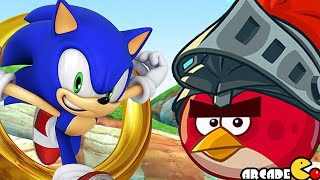 getlinkyoutube.com-Sonic Dash: Angry Birds Epic Takeover UNLOCKED RED BIRD! iOS/ANDROID
