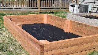 getlinkyoutube.com-How to Make a Raised Garden Bed (WoodLogger.com)