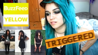 """EMO REACTS TO """"I Dressed Emo For A Week"""" by BuzzFeedYellow   Kylie The Jellyfish"""