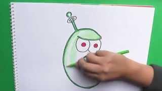 getlinkyoutube.com-Dibujando y coloreando Frijol Laser (Plantas vs Zombies 2)  - Laser drawing and coloring Bean