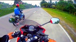 getlinkyoutube.com-Honda CBR150 Fi/EFI  vs Yamaha Sniper 150 GPS (part 1/2)