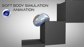 Cinema 4D SOFT BODY SIMULATION & ANIMATION Tutorial