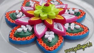 getlinkyoutube.com-☑️ Paper Quilling Designs  🌲 How to make  Colorful quilled Rangoli design 🌲