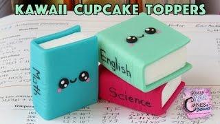 getlinkyoutube.com-How To Make Kawaii Textbook Cupcake Toppers: Back To School Collaboration