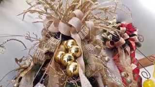 getlinkyoutube.com-varias ideas para decorar arbol de navidad en dorado 2016 al 2017