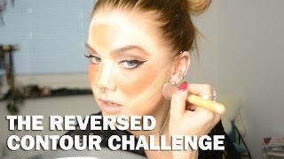getlinkyoutube.com-The reversed contour challenge (with subs) - Linda Hallberg Makeup Tutorials