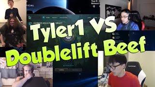 getlinkyoutube.com-League of Legends Funny Stream Moments #38 -TYLER1 VS DOUBLELIFT BEEF!