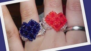 getlinkyoutube.com-Beaded Heart Ring Advanced version Beading Tutorial by HoneyBeads1 (Photo tutorial)