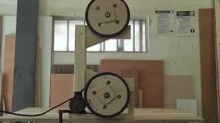 getlinkyoutube.com-Wooden Bandsaw (frame and wheels)