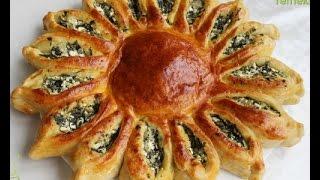 getlinkyoutube.com-Güneş Börek ( Ispanaklı Peynirli )