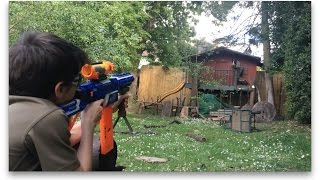 getlinkyoutube.com-Nerf Ops: Treehouse Battle