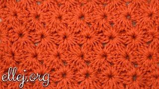 Плотный цветочный узор крючком. Crochet Fiower Stitch Pattern.