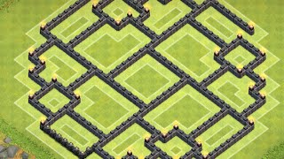 getlinkyoutube.com-Clash of Clans - NEW Epic TH9 Farming Base Layout Speed Build
