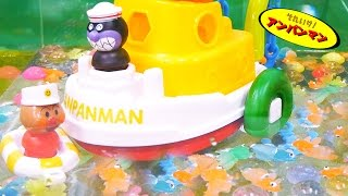 アンパンマンおもちゃアニメ うきうきおふろパズルdeあそぼう! 歌 映画 テレビ Anpanman Toys