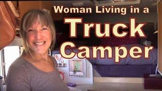 getlinkyoutube.com-Fearless Retired Woman Living in a Lance Truck Camper
