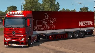 getlinkyoutube.com-ETS2 - Mercedes Actros Mp4 Nescafe Combo Pack