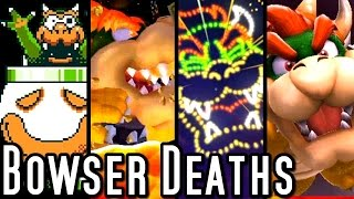 getlinkyoutube.com-Super Mario ALL BOWSER DEATHS 1985-2015 (Wii U, GC, N64, SNES, NES)