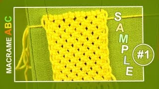 getlinkyoutube.com-Macrame ABC - pattern sample #1