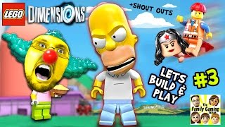 getlinkyoutube.com-Lets Build & Play LEGO Dimensions #3: MONSTER HOMER in Springfield  (Just Let Me Build The Car Man!)