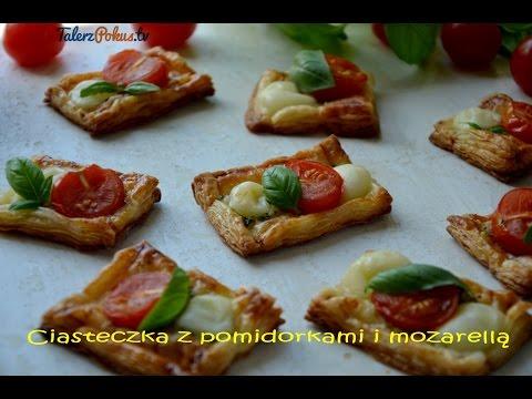 Ciasteczka z pomidorkami i mozarellą