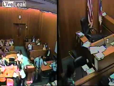 Defendant Attacks a Judge and Lawyer