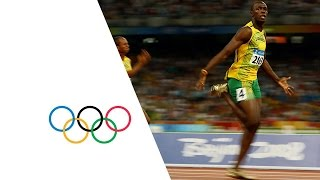 getlinkyoutube.com-Usain Bolt Breaks 3 World Records | Beijing 2008 Olympics