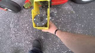 getlinkyoutube.com-Deck mount trimmer on a Gravely Pro Turn 460.