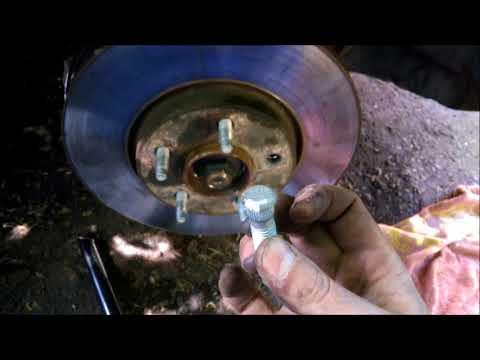 Замена шпильки на переднем колесе шевроле орландо  chevrolet orlando (может и круз cruze)