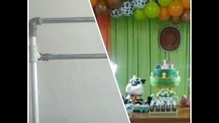 getlinkyoutube.com-Diy- suporte  duplo para balões e cortina