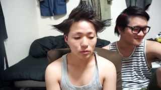 getlinkyoutube.com-全く髪セットしたことない人がセットするとこうなる