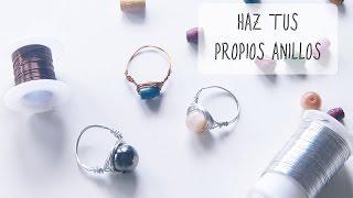 getlinkyoutube.com-Cómo hacer anillos con alambre y abalorios [Regalo para amiga,hermana,madre]