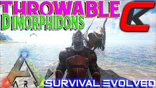 getlinkyoutube.com-Ark: Survival Evolved -  Throwable Dimorphodon and WE RAID CARNO ISLAND