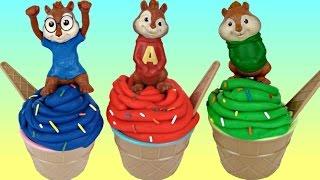 getlinkyoutube.com-Alvin and the Chipmunks Playdoh Ice Cream Toy Surprises with Theodore, Simon, Shopkins / TUYC