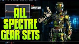 "getlinkyoutube.com-Black Ops 3 - ALL COMPLETED ""SPECTRE"" GEAR SETS - ""SPECTRE CHAMELEON GEAR SET"""