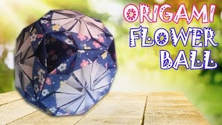 getlinkyoutube.com-Origami Flower Ball - Kusudama Ball - Origami Easy