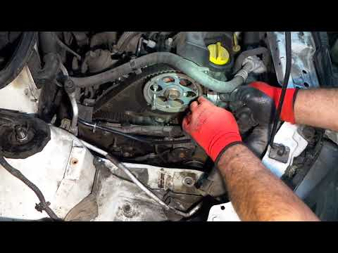 Opel Combo,Astra,Corsa,Zafira,Meriva,1.7 CDTI Замена ремня ГРМ.Replacing the belt
