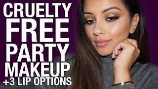 getlinkyoutube.com-FULL FACE Cruelty Free Party Makeup Tutorial + 3 Lip Options Ad