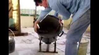 getlinkyoutube.com-Betoneira manual - Home made cement mixer
