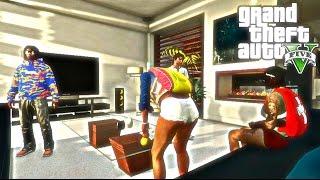 """getlinkyoutube.com-GTA 5 """"SLEEPOVER SKIT"""" [HD] Ft Juwaniie"""