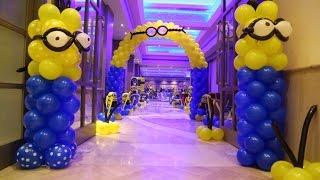 getlinkyoutube.com-Minion Theme Birthday Party