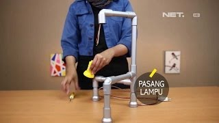 getlinkyoutube.com-Dsign - Handcraft - Table Lamp dari Pralon